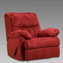 Sensations Red Brick Chaise Rocker Recliner