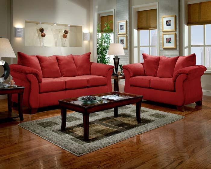 sensations red brick brick living room furniture