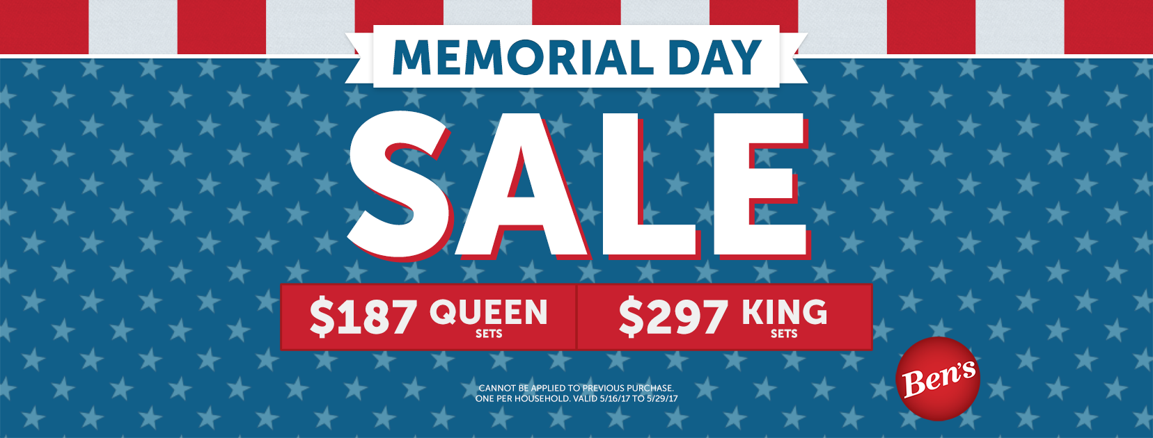 Ben's Memorial Day Sale on Mattresses