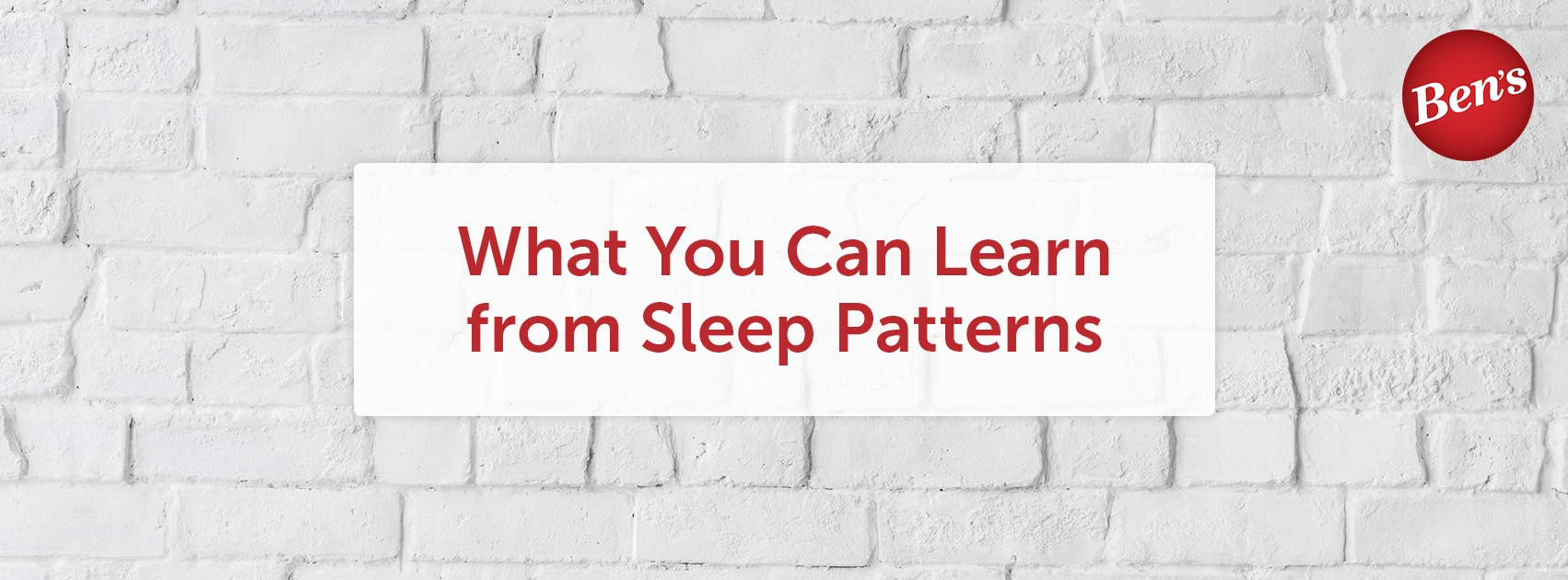 What you can learn from sleep patterns