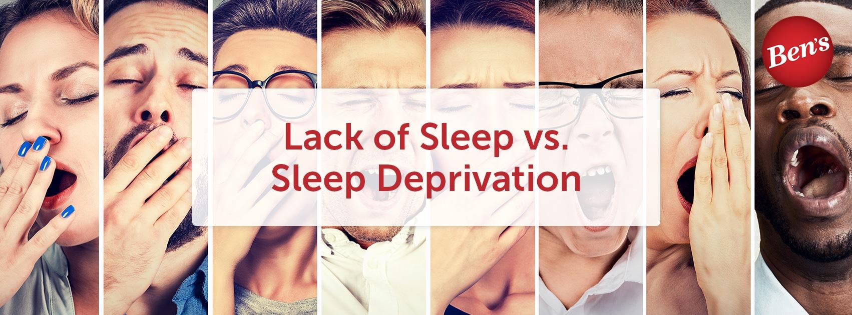 lack of sleep vs sleep dep