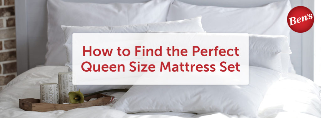 White queen size mattress set with fluffy bedding and pillows
