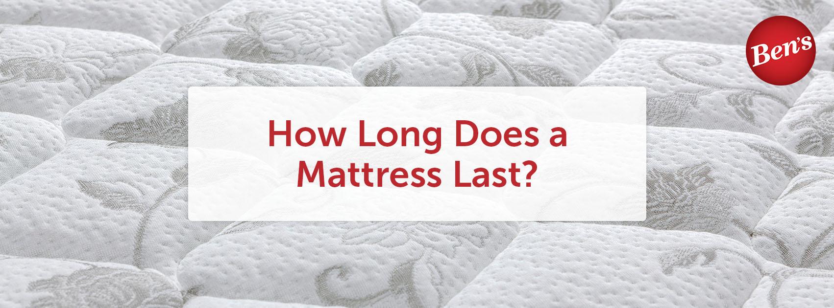 Closeup of a pillow top mattress