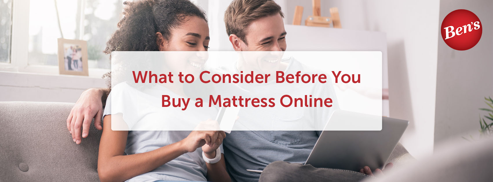 Couple purchasing a mattress online.
